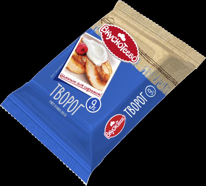 Творог ТМ Вкуснотеево 9% 350г