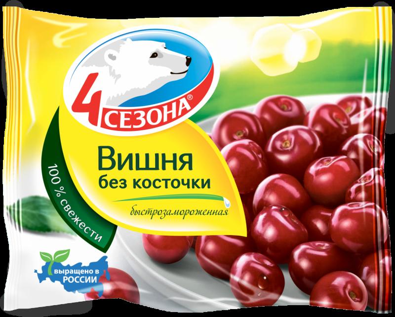 Замороженные фрукты ТМ 4 Сезона Вишня 300г