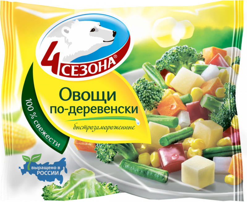 Замороженные овощи ТМ 4 Сезона Овощи по-деревенски 400г