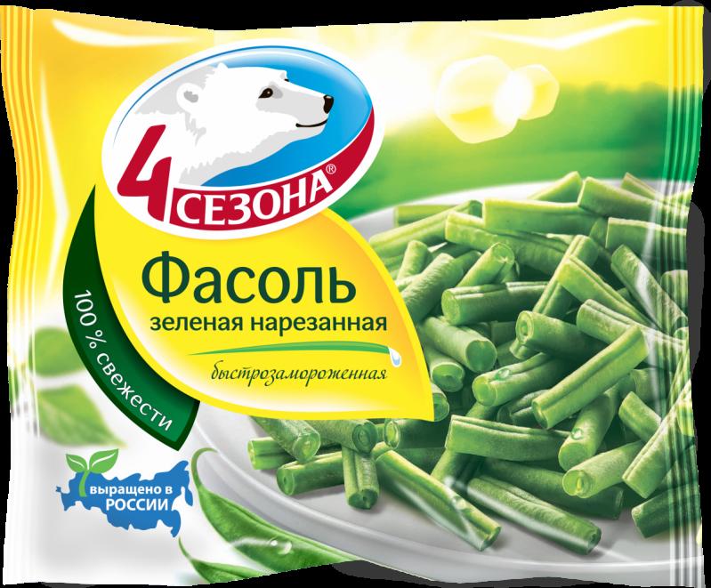 Замороженные овощи ТМ 4 Сезона Фасоль зеленая нарезанная 400г