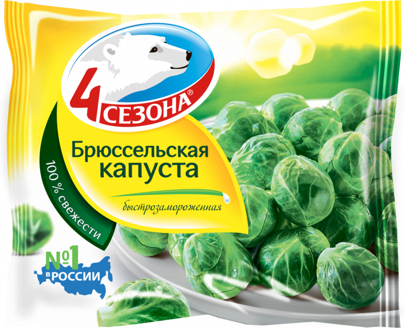 Замороженные овощи ТМ 4 Сезона Капуста Брюссельская 400г