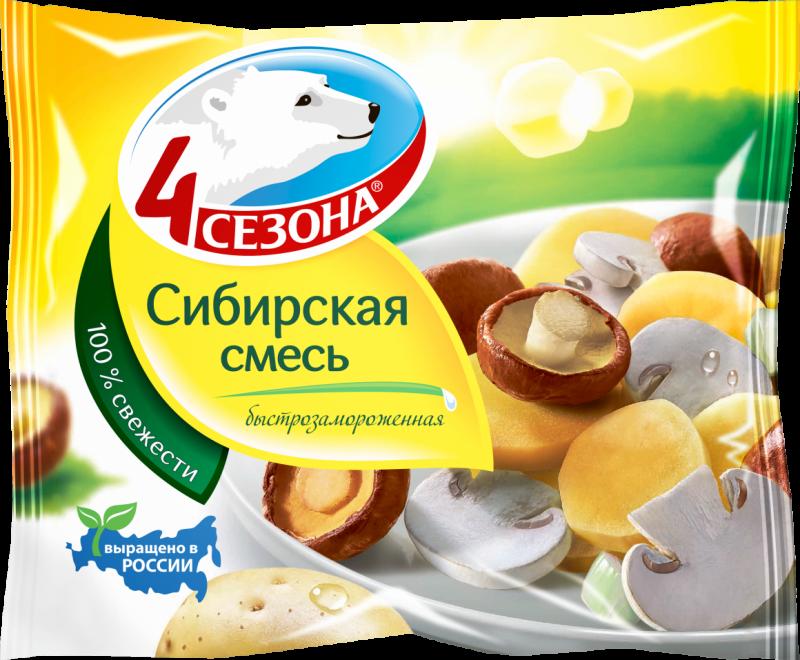 Замороженные овощи ТМ 4 Сезона Сибирская смесь 400г