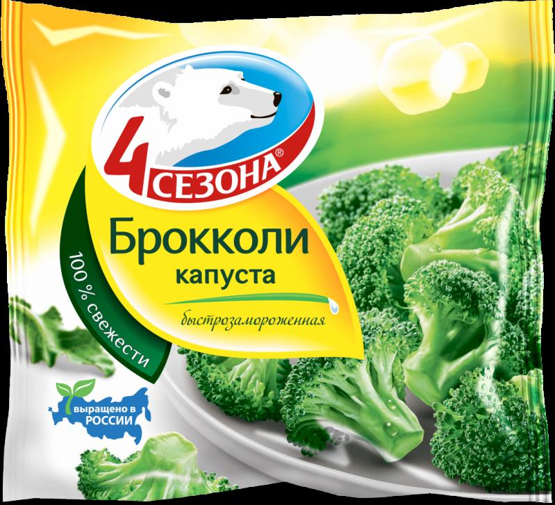 Замороженные овощи ТМ 4 Сезона Капуста Брокколи 400г