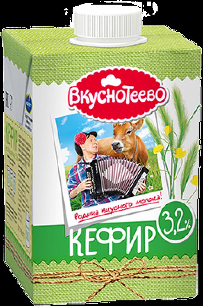 Кефир ТМ Вкуснотеево 3,2% 500г