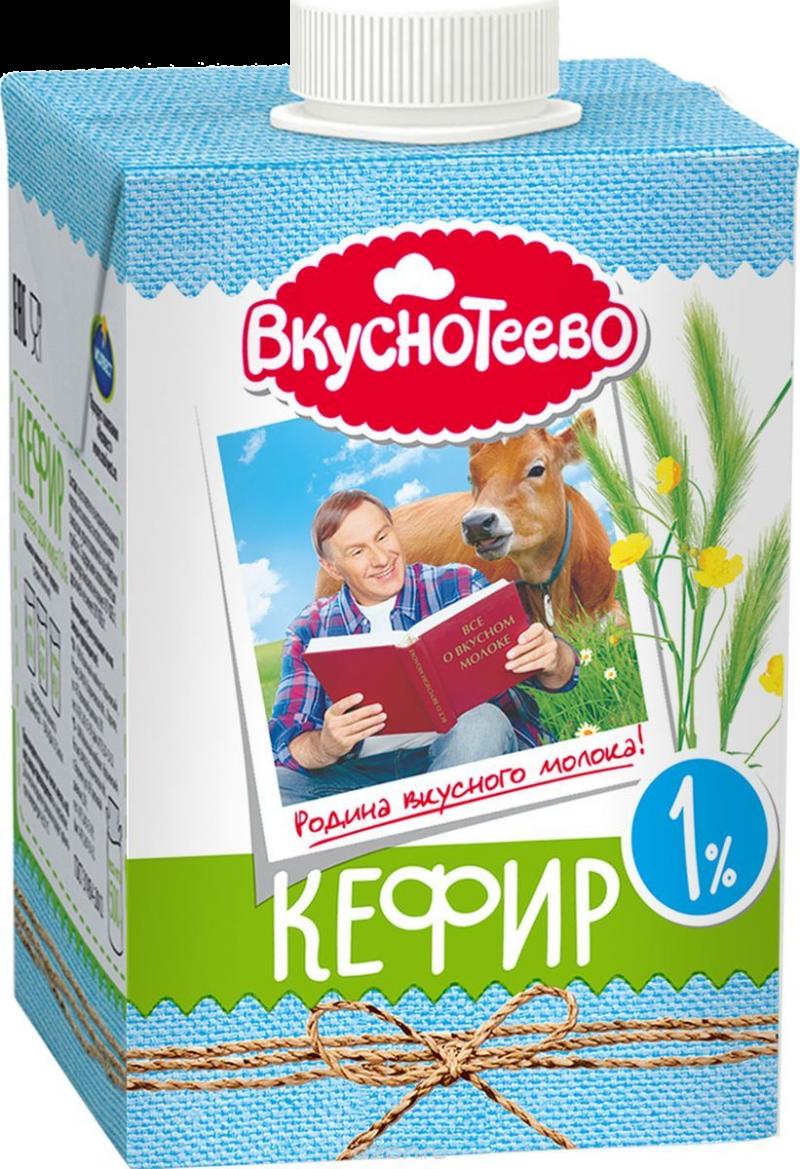 Кефир ТМ Вкуснотеево 1% 500г