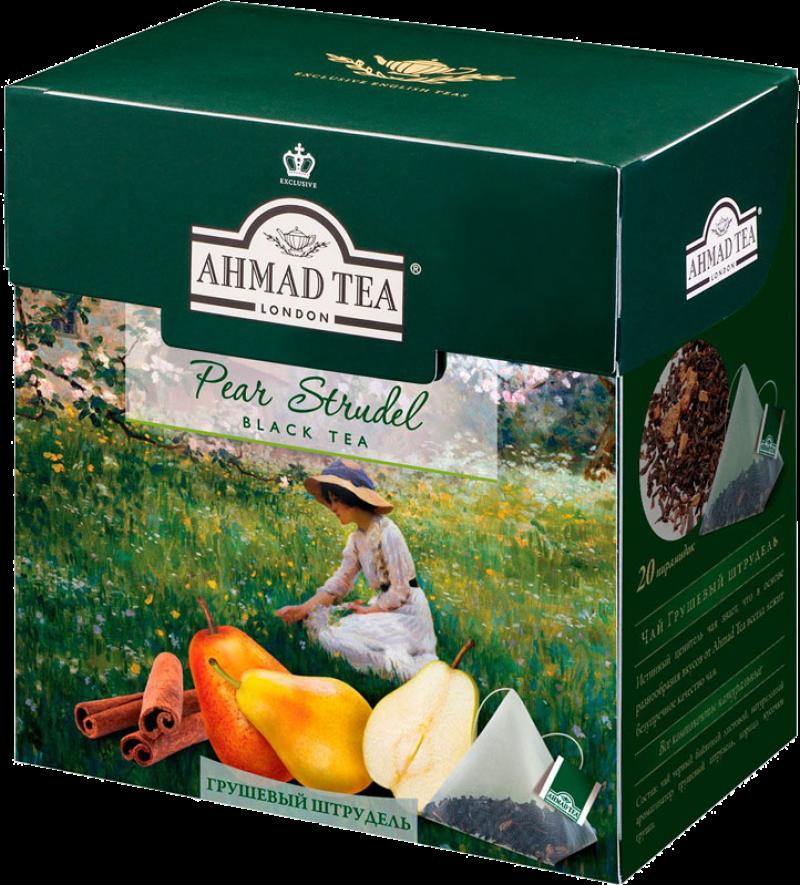Чай ТМ Ahmad Tea черный Грушевый штрудель 20*1,8г