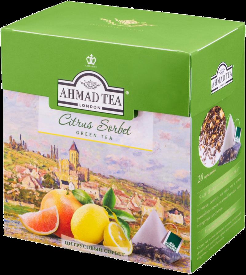 Чай ТМ Ahmad Tea Цитрусовый сорбет 20*1,8г