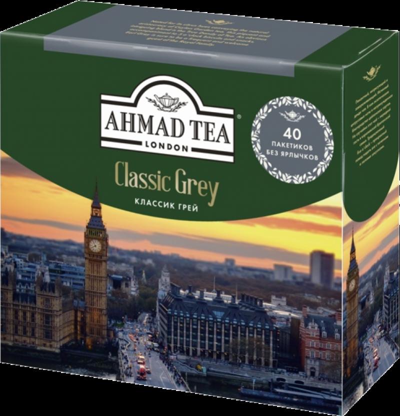 Чай ТМ Ahmad Tea Earl Grey с бергамотом без ярлычков 40*2г