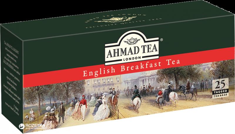 Чай ТМ Ahmad Tea Классический чёрный 25 пакетов