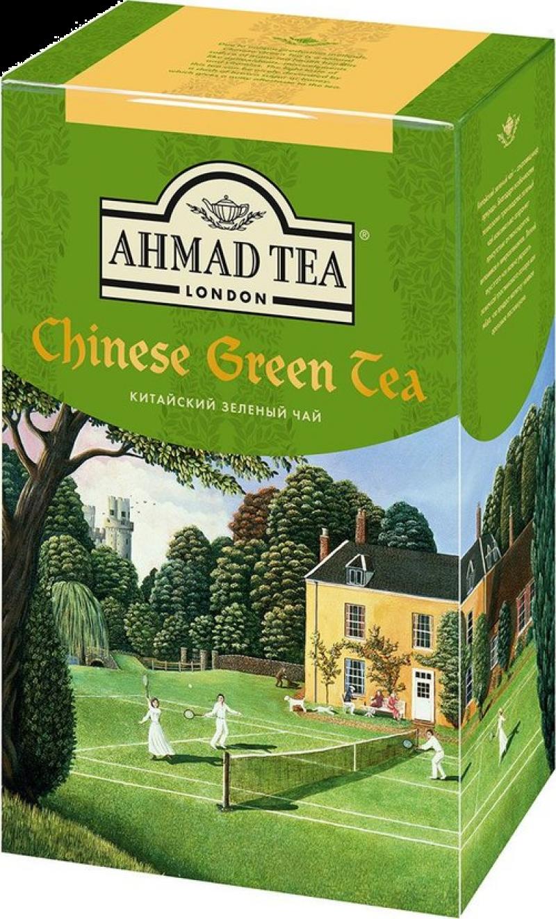 Чай ТМ Ahmad Tea Китайский зелён. листовой коробка 100г