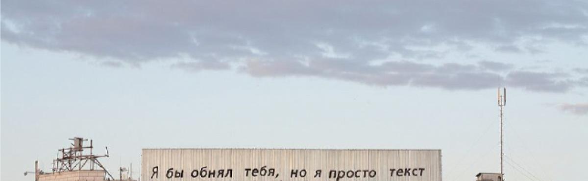 В Екатеринбурге разобрали работу художника Тимофея Ради «Я бы обнял тебя, но я просто текст»
