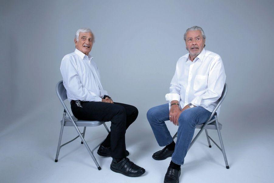 Жан-Поль Бельмондо и Ален Делон в 2019 году