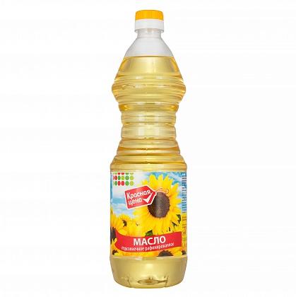 Масло подсолнечное рафинированное дезодорированное первого сорта