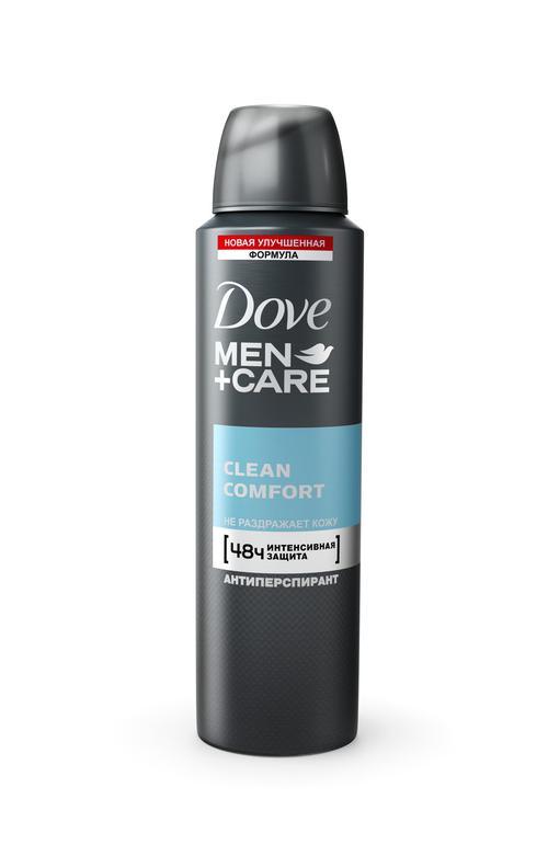 """цена Антиперспирант аэрозоль """"Dove men+care"""" Экстразащита+уход, эффективно защищает 48ч, не раздражает кожу, """"Unilever"""", 150мл"""