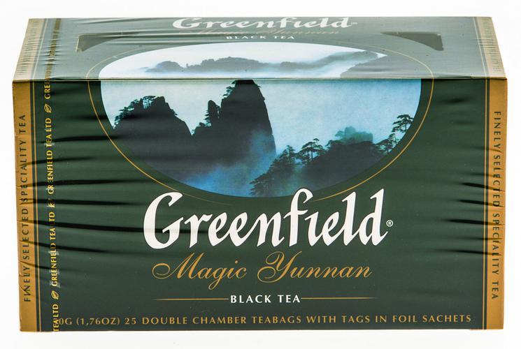 Чай черный байховый Гринфилд Меджик Юньнань в пакетиках