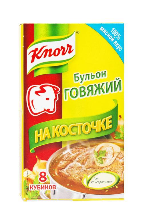 "Бульон говяжий ""Knorr"" На косточке, 80 г. (8 кубиков)"