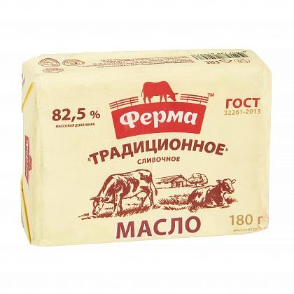 """Масло сливочное """"Традиционное"""", массовая доля жира 82.5%. Высший сорт"""