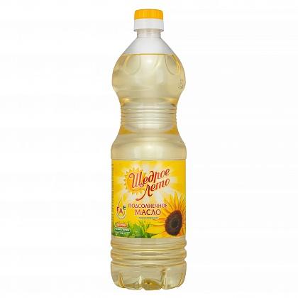 Масло Щедрое лето подсолнечное рафинированное дезодорированное вымороженное, первый сорт