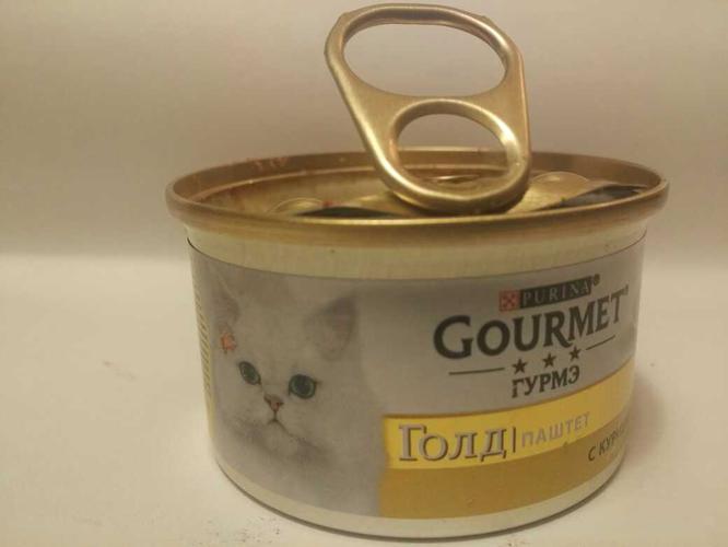 "цена Корм для кошек ""Gourmet"" паштет с курицей, 85 г."