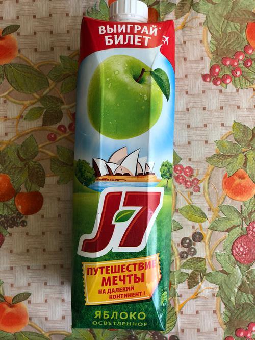 фото4 Сок J7 яблочный