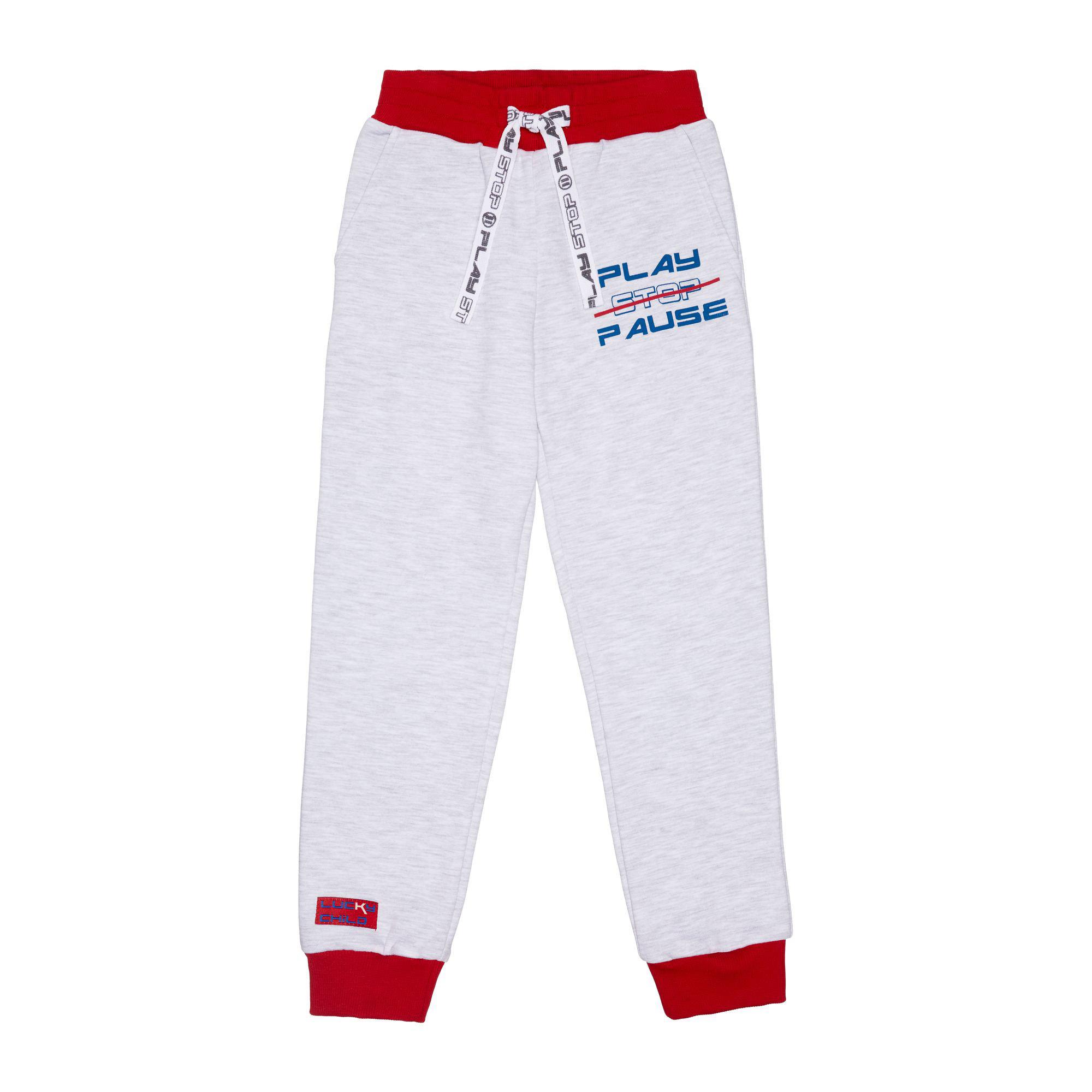 Спортивные брюки Lucky Child Больше пространства серые 122-128