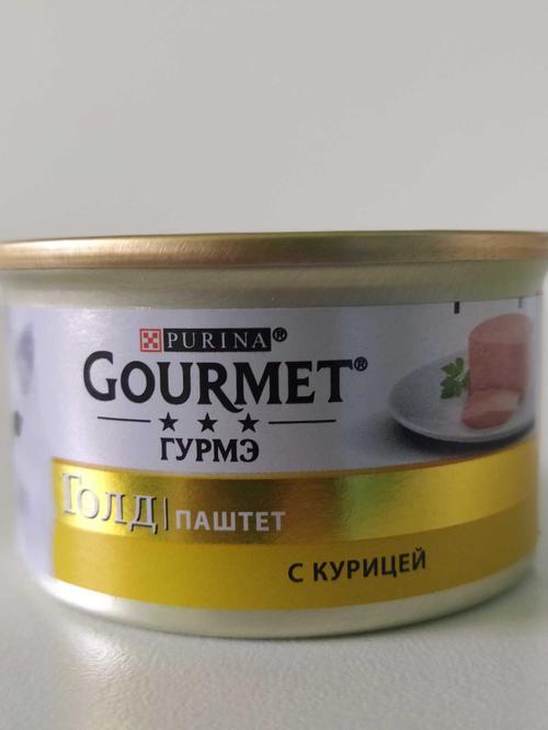 """отзыв Корм для кошек """"Gourmet"""" паштет с курицей, 85 г."""