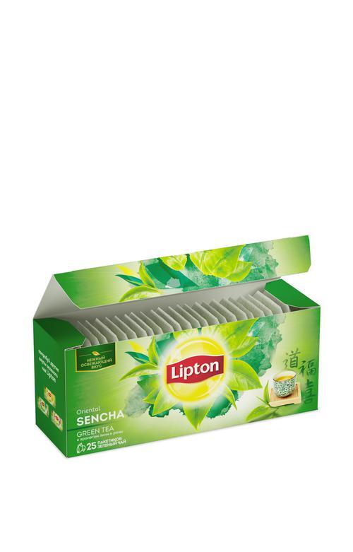 Lipton зеленый чай Oriental Sencha с ароматом личи и розы 25 пакетиков