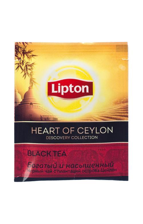описание Чай Lipton Discovery Heart of Ceylon, черный, 25 пакетиков