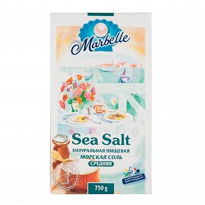 Sea Salt натуральная пищевая морская соль, средняя, поваренная садочная