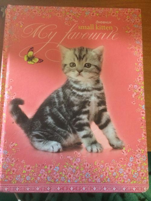 """Дневник""""милый котёнок"""""""