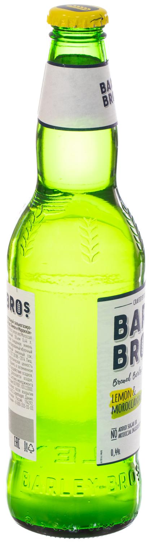 цена Напиток безалкогольный Barley Bros сильногазированный пастеризованный Барлей Бро Лимон и Марокканская мята, 0.44л ст/б