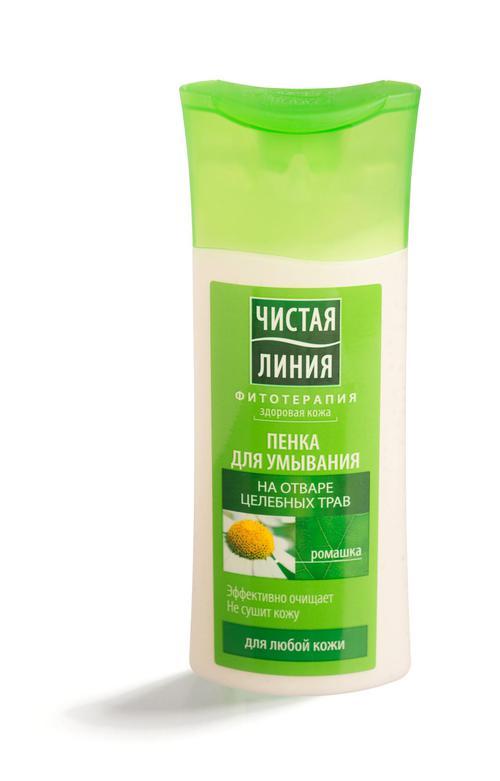 описание Пенка для умывания чистая линия для любой кожи на отваре целебных трав (новая рецептура)