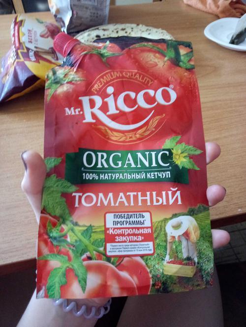 описание Кетчуп томатный Pomodoro Speciale Mr.Ricco. Высшая категория. Пастеризованный.