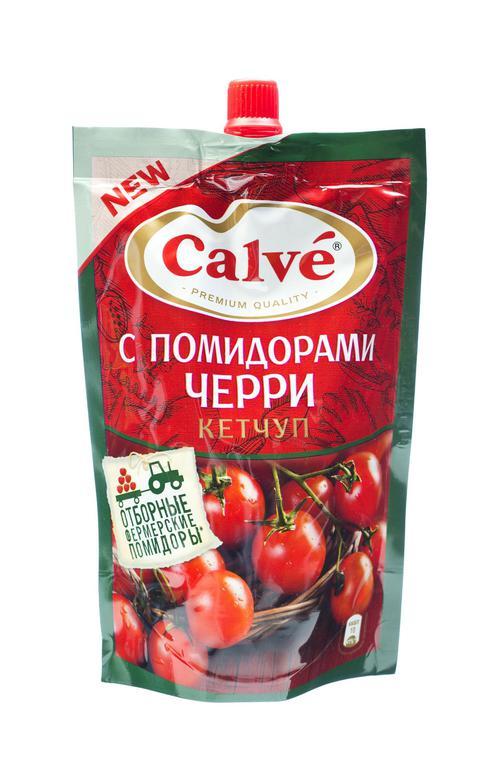 Calve кетчуп с помидорами Черри 350 г.
