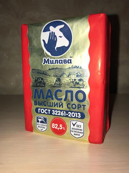 отзыв Сливочное масло Милава высшего сорта,  82,5%