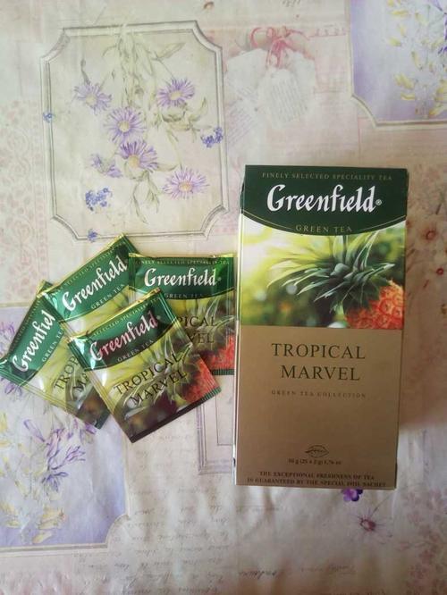 Чай зеленый байховый Гринфилд Тропикал Мавел в пакетиках