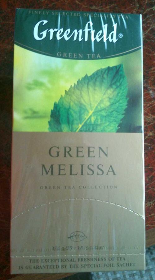 фото10 Чай зеленый байховый Гринфилд Грин Мелисса в пакетиках