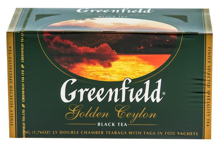 "Чай черный ""Гринфилд Голден Цейлон"" (Greenfield Golden Ceylon) байховый, 25пак."
