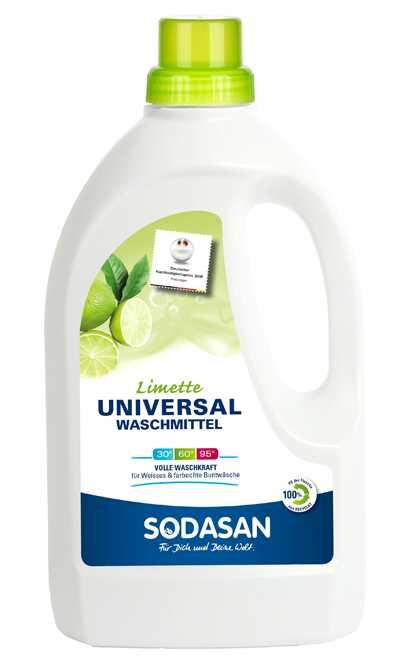 Органическое жидкое средство для стирки Sodasan Universal Bright&White 1.5 л