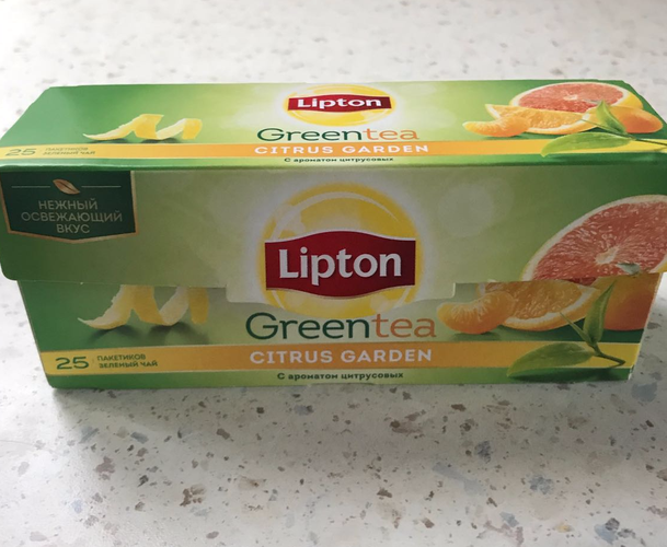 фото3 Lipton CITRUS GARDEN GREEN TEA