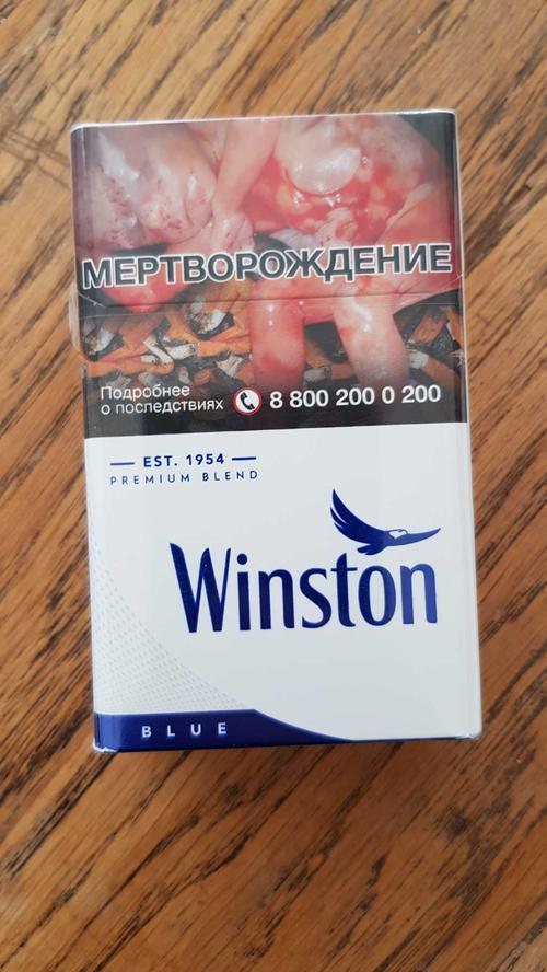 описание сигареты с фильтром Winston Blue, мрц 17