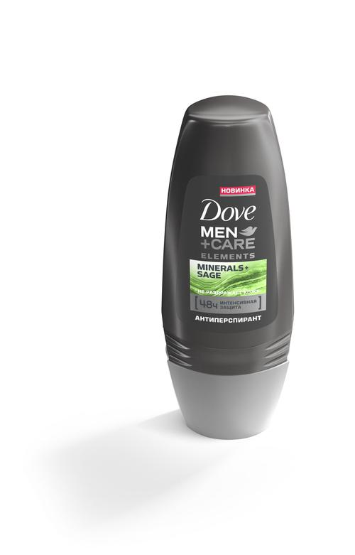 """Dove Men+Care антиперспирант ролл """"Свежесть минералов и шалфея"""", 50 мл"""