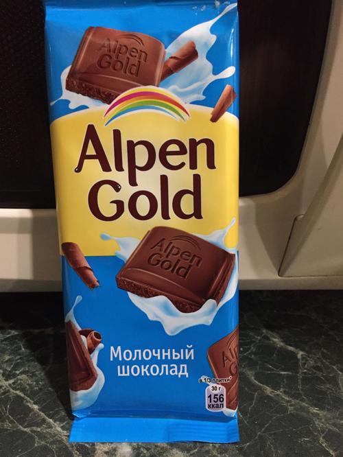 отзыв Шоколад Alpen Gold молочный, 90гр.