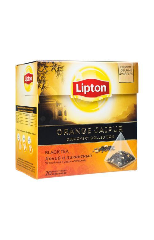 """описание Чай """"Lipton"""", Черный Orange Jaipur; пирамидки"""