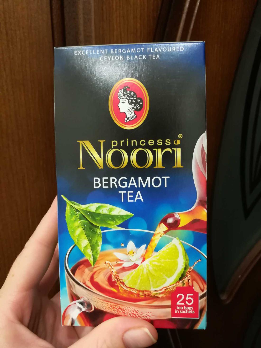 описание Чай черный байховый Принцесса Нури Бергамот в пакетиках