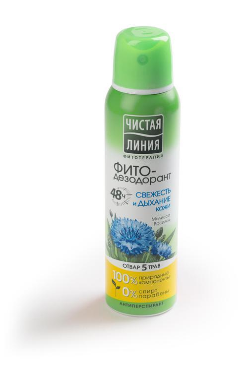 отзыв Антиперспирант аэрозоль фитодезодорант чистая линия свежесть и дыхание кожи