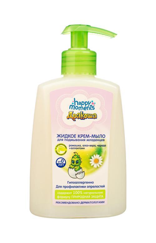 """описание Жидкое крем -мыло для подмывания младенцев """"дракоша"""""""