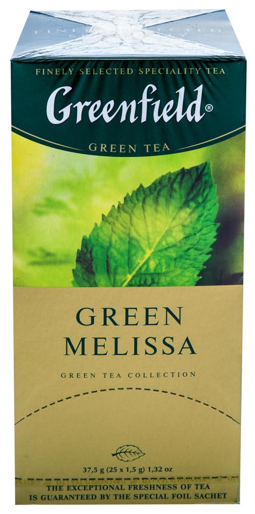 Чай зеленый байховый Гринфилд Грин Мелисса в пакетиках
