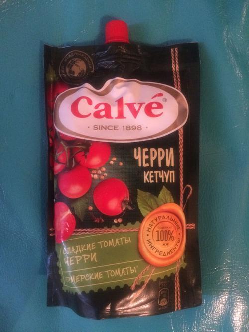 фото1 Calve кетчуп с помидорами Черри 350 г.