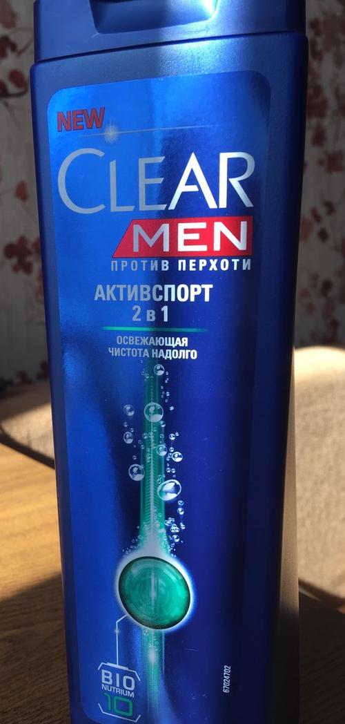 фото Шампунь против перхоти для нормальных волос и кожи головы Clear Vita ABE Men Активспорт  2в1, Освежающая чистота на долго, формула с витаминами и минералами, 400мл.